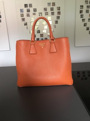 Prada Shopper orange cuir