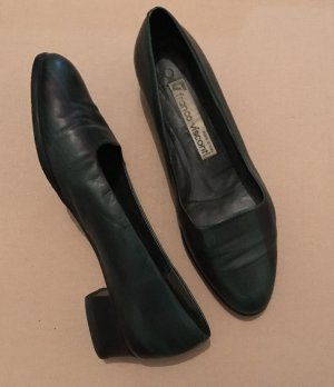 Loafers forest green-dark green leather