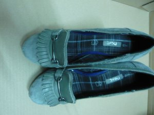 Next Loafers grijs Suede