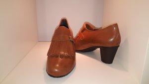 Loafers cognac-bruin