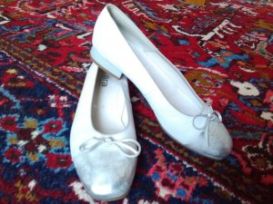 ara Pumps white-silver-colored