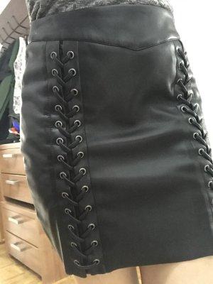 Leren rok zwart