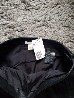H&M Leren rok zwart