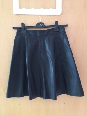 H&M Faux Leather Skirt black