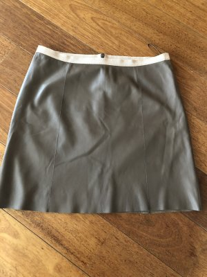 Strenesse Leather Skirt taupe-grey brown