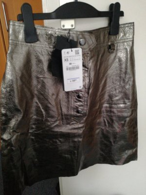 Leder Rock Zara Women XS