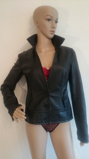LEDER-SALE!!! Wunderschöne Echt-Lederjacke Blazer weiches Leder 36/38 schwarz