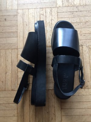 Urban Outfitters Platform Sandals black leather
