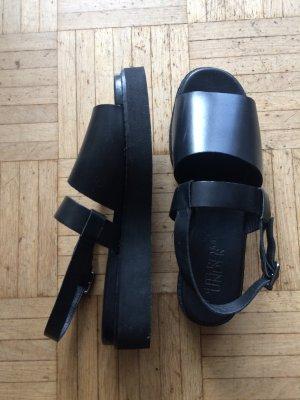 Leder- Sandale, urban outfitters, Gr. 41/42, asia-style, Plateau, ungetragen!