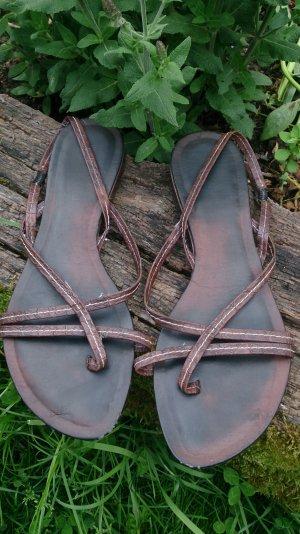 leder sandalen aus italien