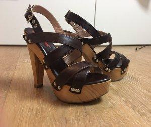 To Be Platform Sandals dark brown