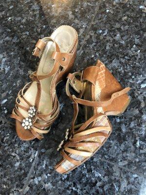 Platform High-Heeled Sandal brown-nude