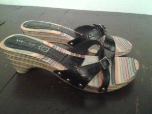 Sandalo con cinturino nero Pelle
