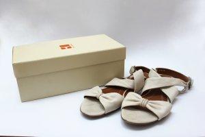 Leder Sandalen in creme von Boss Orange Gr.42 Mit orignal Karton