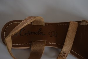 Beach Sandals cognac-coloured-bronze-colored leather