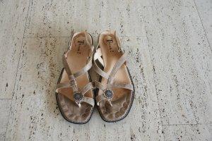 Leder-Sandalen mit kleinem Absatz, Größe 43, sehr guter Zustand