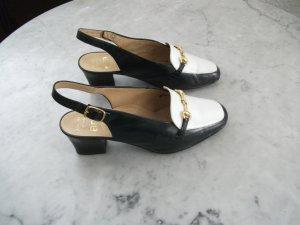 Leder Sandalen / Sandaletten von ara, Gr. 3 (36), blau-weiß - NEU