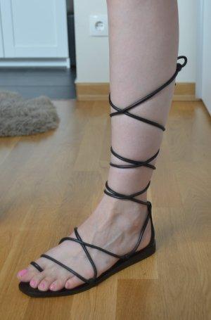 Leder-Sandalen zum Schnüren von H&M