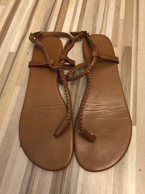 Görtz 17 High-Heeled Toe-Post Sandals cognac-coloured