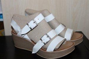 Platform High-Heeled Sandal white leather