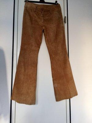 H&M Divided Pantalón de cuero marrón claro