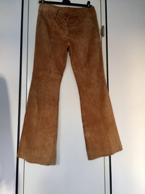 H&M Divided Leather Trousers light brown