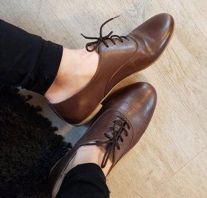 Zapatos brogue marrón-coñac Cuero