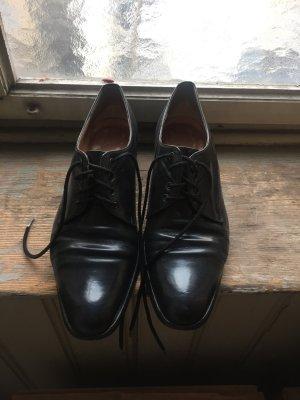 Leder Schnürschuhe schwarz