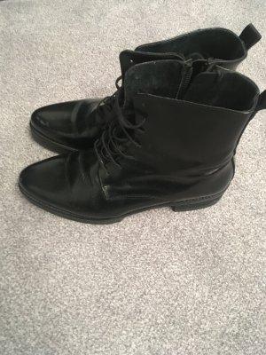 Selected Femme Botas con cordones negro Cuero