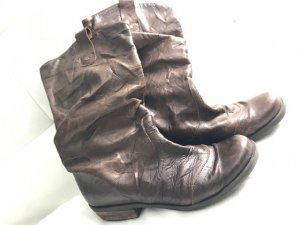 Western Booties brown red leather