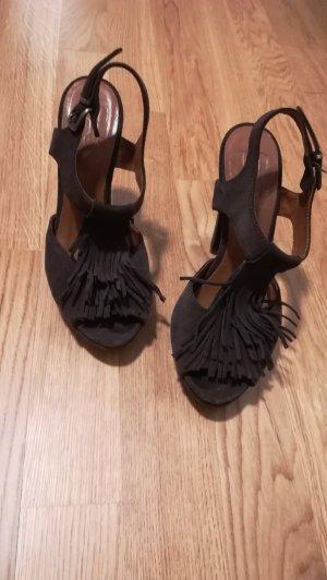 Leder Schuhe mit Franzen
