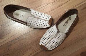 Leder Schuhe mit Lochmuster von Eddie Bauer Gr. 37