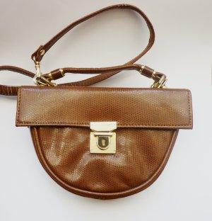 Bandolera marrón arena-color bronce Imitación de cuero