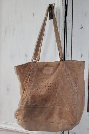 Leder Shopper Mango Braun Leder Bag Tasche