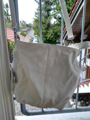 Leder shopper, Tasche, weiß, groß, Einzelstück aus lissabon