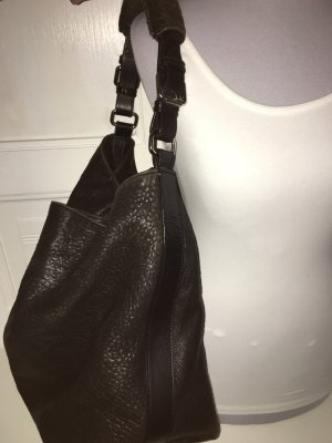 H&M Shopper black leather