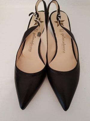 leder slingback heels, schwarz, neu, 37