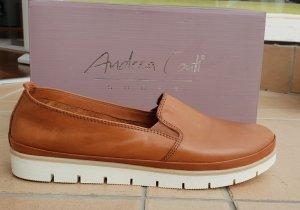 Andrea Conti Zapatos formales sin cordones marrón claro-marrón