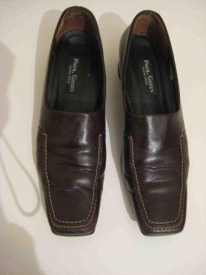 Leder-Slipper in dunkelbraun von Paul Green, Größe 6
