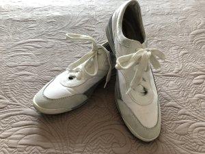 Sneakers met veters wit-lichtgrijs