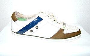 Leder Sneaker - HUGO BOSS - weiß-braun - Schnürer - Gr. 42