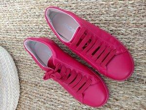 Leder Sneaker in monochrom magenta/dunklem pink, Stan Smith Form