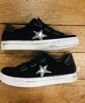 Leder Sneaker schwarz Gr. 40