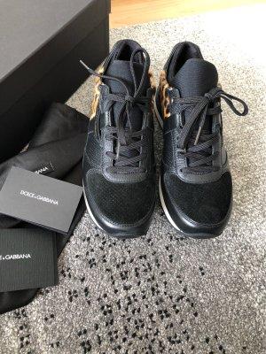 Dolce & Gabbana Lace-Up Sneaker black-camel