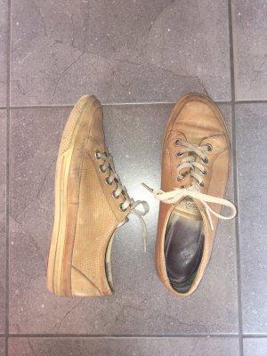 Leder Sneaker von Ecco 39 hell Braun Senf Farbe