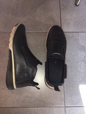 Leder Sneakers ECCO danish design schwarz 39 Damen elegant sportlich bequem ohne Schnürsenkel Organisch