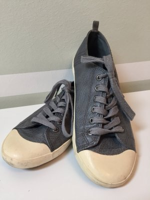 Leder Sneakers in grau