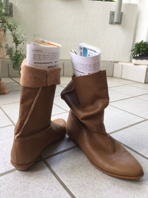Zara Stivaletto slip-on marrone chiaro Pelle