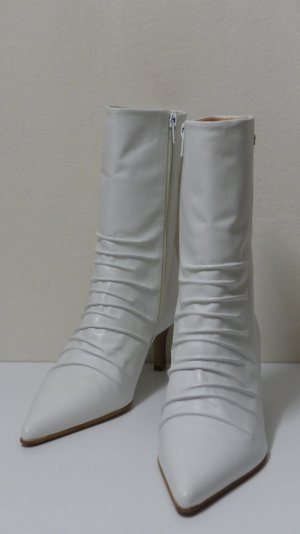 Buffalo London Short Boots white-brown