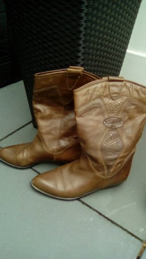 Short Boots light brown leather